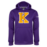 Under Armour Purple Performance Sweats Team Hoodie-K