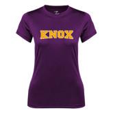 Ladies Syntrel Performance Purple Tee-Knox
