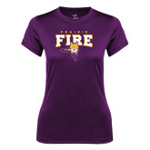 Ladies Syntrel Performance Purple Tee-Praire Fire Mascot Logo