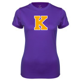 Ladies Syntrel Performance Purple Tee-K