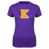 Ladies Syntrel Performance Purple Tee-K
