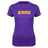 Ladies Syntrel Performance Purple Tee-Knox