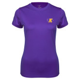 Ladies Syntrel Performance Purple Tee-K Club