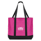 Tropical Pink/Dark Charcoal Day Tote-Prairie Fire Logo