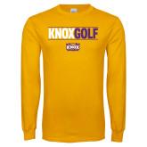 Gold Long Sleeve T Shirt-Knox Golf