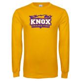 Gold Long Sleeve T Shirt-Prairie Fire Logo, Custom Tee w/ Name and #