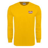 Gold Long Sleeve T Shirt-Prairie Fire Logo