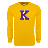 Gold Long Sleeve T Shirt-K