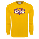 Gold Long Sleeve T Shirt-Knox College Logo