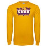 Gold Long Sleeve T Shirt-Prairie Fire Logo