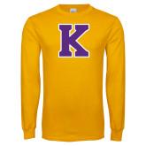 Gold Long Sleeve T Shirt-K