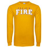 Gold Long Sleeve T Shirt-Prairie Fire