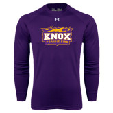 Under Armour Purple Long Sleeve Tech Tee-Prairie Fire Logo