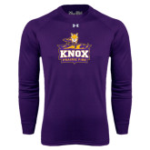 Under Armour Purple Long Sleeve Tech Tee-Knox Mascot Logo