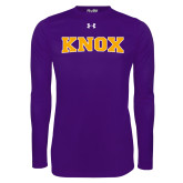 Under Armour Purple Long Sleeve Tech Tee-Knox