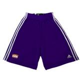 Adidas Climalite Purple Practice Short-Prairie Fire Logo