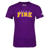 Adidas Purple Logo T Shirt-Prairie Fire