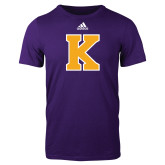 Adidas Purple Logo T Shirt-K