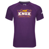 Adidas Climalite Purple Ultimate Performance Tee-Prairie Fire Logo
