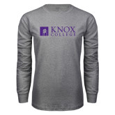 Grey Long Sleeve T Shirt-Institutional Logo