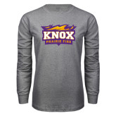 Grey Long Sleeve T Shirt-Prairie Fire Logo