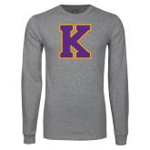 Grey Long Sleeve T Shirt-K