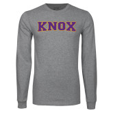 Grey Long Sleeve T Shirt-Knox