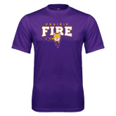 Syntrel Performance Gold Longsleeve Shirt-Praire Fire Mascot Logo