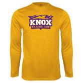 Performance Gold Longsleeve Shirt-Prairie Fire Logo