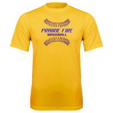 Syntrel Performance Gold Tee-Prairie Fire Baseball w/Seams