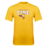 Syntrel Performance Gold Tee-Praire Fire Mascot Logo