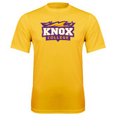 Syntrel Performance Gold Tee-Knox College Logo