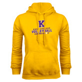 Gold Fleece Hood-Knox College Volleyball Can You Dig It
