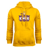 Gold Fleece Hood-Knox Mascot Logo