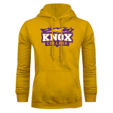 Gold Fleece Hoodie-Knox College Logo