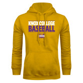 Gold Fleece Hoodie-Knox College Baseball Stacked