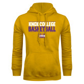 Gold Fleece Hoodie-Knox College Basketball Stacked