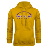 Gold Fleece Hoodie-Knox College Football Horizontal