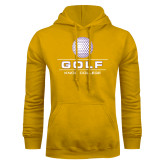 Gold Fleece Hoodie-Knox College Golf Stacked w/Ball