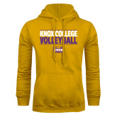 Gold Fleece Hoodie-Knox College Volleyball Stacked