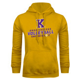 Gold Fleece Hoodie-Knox College Volleyball Can You Dig It