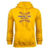 Gold Fleece Hood-Prairie Fire Baseball w/Seams