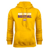 Gold Fleece Hood-Knox College Basketball Stacked