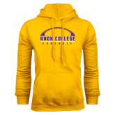 Gold Fleece Hood-Knox College Football Horizontal