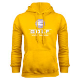 Gold Fleece Hood-Knox College Golf Stacked w/Ball
