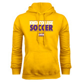 Gold Fleece Hood-Knox College Soccer Stacked