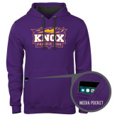Contemporary Sofspun Purple Hoodie-Prairie Fire Logo