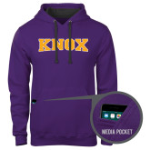 Contemporary Sofspun Purple Hoodie-Knox