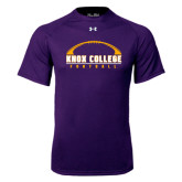 Under Armour Purple Tech Tee-Knox College Football Horizontal