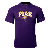 Under Armour Purple Tech Tee-Praire Fire Mascot Logo